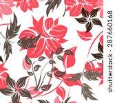 seamless flower vector pattern  | Shutterstock .eps vector #287660168
