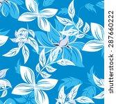 seamless flower vector pattern  | Shutterstock .eps vector #287660222