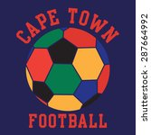 football sport cape town... | Shutterstock .eps vector #287664992