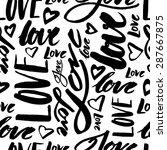 handmade lettering signs love   ... | Shutterstock . vector #287667875