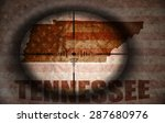 sniper scope aimed at the... | Shutterstock . vector #287680976