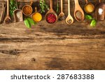 various colorful herbs and... | Shutterstock . vector #287683388