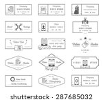 big set of sign  logos and... | Shutterstock .eps vector #287685032