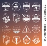 set of vector badges and logos... | Shutterstock .eps vector #287685182