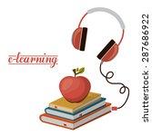 e learning design over white... | Shutterstock .eps vector #287686922