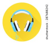 headphones flat icon. music and ... | Shutterstock .eps vector #287688242