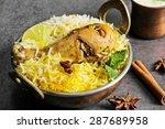 chicken biryani in kadai on...   Shutterstock . vector #287689958