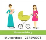 woman with newborn baby and... | Shutterstock .eps vector #287690075
