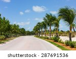 a photograph of a road with... | Shutterstock . vector #287691536