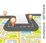 road vector information...   Shutterstock . vector #287701616