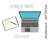 flat mockups for  design and... | Shutterstock .eps vector #287705162