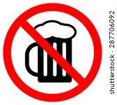 no alcohol  | Shutterstock .eps vector #287706092