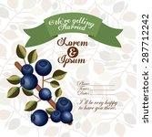 wedding invitation design over... | Shutterstock .eps vector #287712242