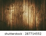 dark brown vintage wood planks... | Shutterstock . vector #287714552