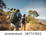 rear view of two young people... | Shutterstock . vector #287717822