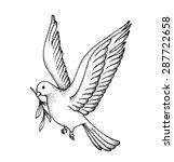 vector of hand draw dove.... | Shutterstock .eps vector #287722658