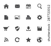 web icons set isolated on white ... | Shutterstock . vector #287723312