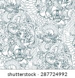 vector tattoo pattern with... | Shutterstock .eps vector #287724992