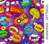 comic speech bubbles seamless... | Shutterstock . vector #287726222