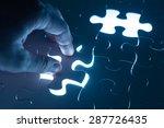 hand insert jigsaw  conceptual...   Shutterstock . vector #287726435