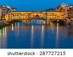 River Arno And Famous Bridge...