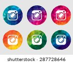 set of vector camera icons | Shutterstock .eps vector #287728646