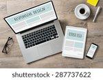 closeup shot of laptop with... | Shutterstock . vector #287737622