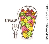 Cute Fruits In The Cup   Banana ...
