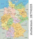 germany   highly detailed... | Shutterstock .eps vector #287743235