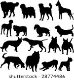 collection of dogs silhouette | Shutterstock .eps vector #28774486