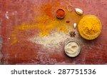 paprika  turmeric  ginger ... | Shutterstock . vector #287751536