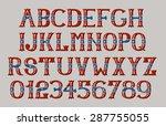 vintage american font eps 8    Shutterstock .eps vector #287755055