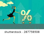 interest rate shopping a woman... | Shutterstock .eps vector #287758508