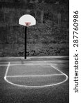detail of urban basketball hoop ... | Shutterstock . vector #287760986