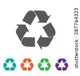 vector recycle symbol. recycle...   Shutterstock .eps vector #287764325