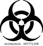 biohazard icon  symbol | Shutterstock .eps vector #287771198