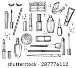hand drawn collection of make... | Shutterstock .eps vector #287776112