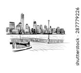 city hand drawn  vector... | Shutterstock .eps vector #287779226