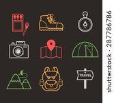 vector abstract set of icons of ... | Shutterstock .eps vector #287786786