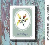 card template with floral... | Shutterstock .eps vector #287790866