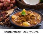 beef massaman curry  thai...   Shutterstock . vector #287793296