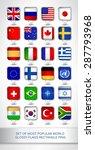 set of most popular world... | Shutterstock .eps vector #287793968
