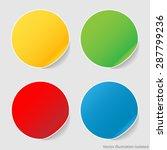 set stickers   Shutterstock .eps vector #287799236