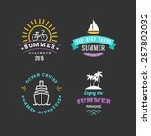 set of retro summer holidays... | Shutterstock .eps vector #287802032