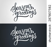Seasons Greetings Hand...