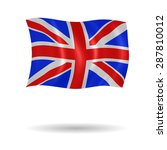 vector flag of united kingdom | Shutterstock .eps vector #287810012
