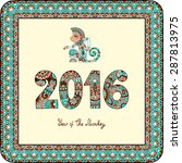 original design for new year... | Shutterstock .eps vector #287813975