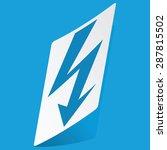 sticker with voltage lightning...