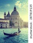 gondola and basilica santa... | Shutterstock . vector #287819135