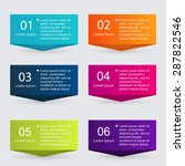 vector colorful info graphics... | Shutterstock .eps vector #287822546